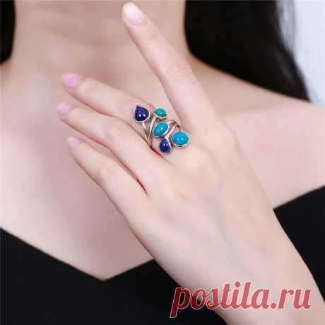 Vintage Phoenix Stone Ring-Lapis Ring-925 Silver Inlay   Etsy