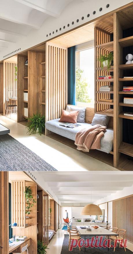 Светлая квартира с интересными дизайнерскими решениями в Барселоне - Дизайн интерьеров | Идеи вашего дома | Lodgers