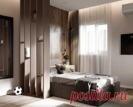 Крутая стильная спальня