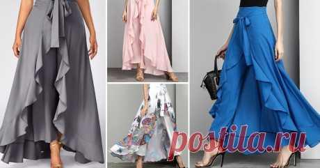 Самый женственный и универсальный силуэт: юбки палаццо на все случаи жизни. Не то чтобы юбки, скорее брюки... Их невозможно не любить!