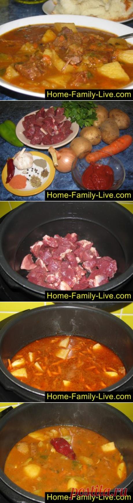 Goulash in Hungarian - the step-by-step photorecipe - goulash in the crock-pot on-vengerskikulinarnye recipes
