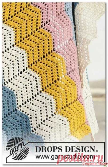 . Радужный плед крючком от Дропс Дизайн - Вязание - Страна Мам