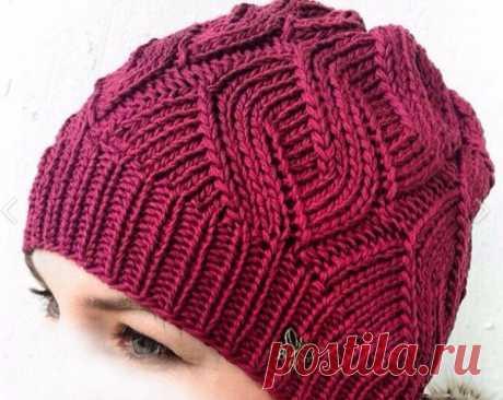 Красивый узор для вязания шапки спицами: схема и описание
