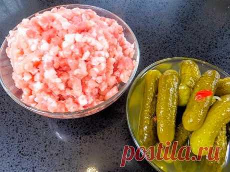 Польский рецепт из фарша— Не печем, не жарим, да еще и с огурцами! — Кулинарный дом