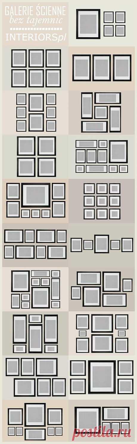 Как расположить фотографии в коллаже на стене