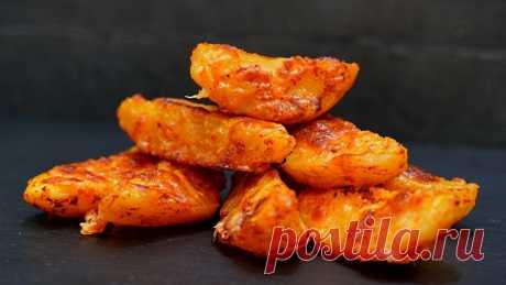 Приготовьте так картошку – гарантирую, не пожалеете! Вкуснейшая картошка, запеченная в духовке.Нежная и мягкая внутри, а снаружи хрустящая корочка.