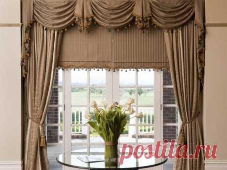 Как сшить шторы с ламбрекенами своими руками — мастер класс с фото — Дом и Сад
