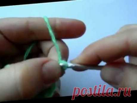 Как связать крючком крокодилью кожу - YouTube