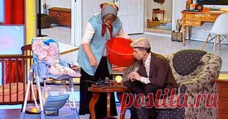 Дед с бабкой остались в няньках с внуками. Чуть не упала со стула от смеха!