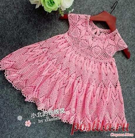 """Платье для девочки """"Цветущая сакура"""". - Все в ажуре... (вязание крючком) - Страна Мам"""