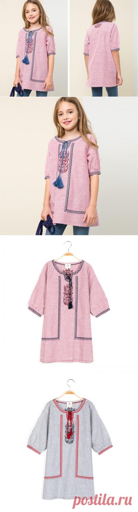 Hurave 2017 новая мода осень с вышивкой детская одежда из хлопка платье для девочек платье с длинными рукавами для маленькой принцессы Vestidos купить на AliExpress
