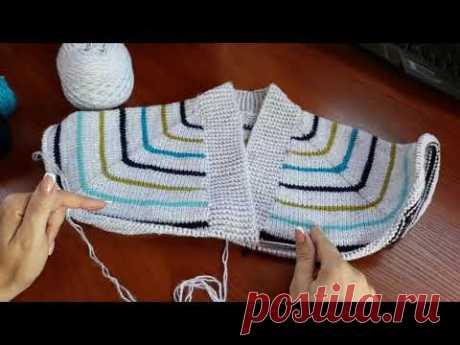 Пуловер с карманом (из остатков пряжи). Часть 1. Обзор. Расчеты.