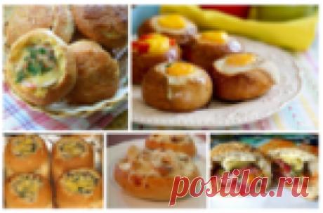 Фаршированные булочки: 5 рецептов быстрого завтрака