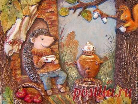 Чаепитие в осеннем лесу