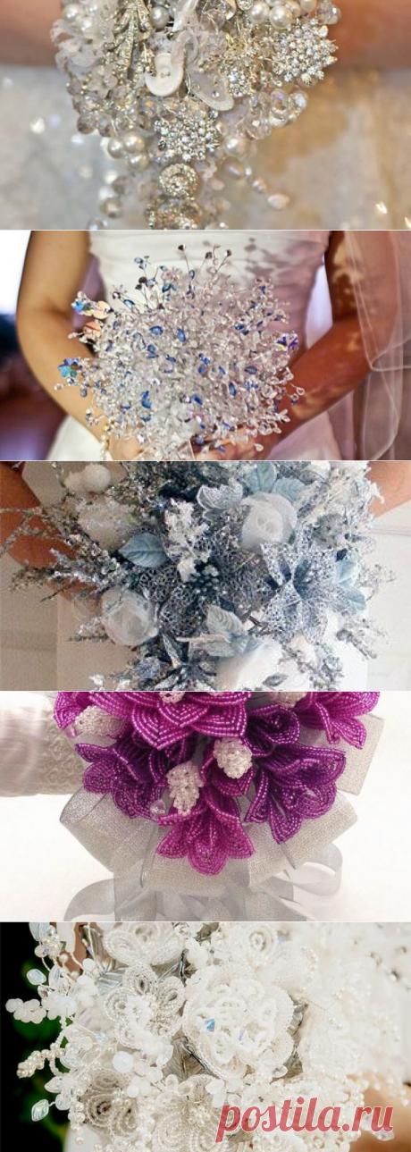 ❀ Свадебные букеты из бисера своими руками ❀ мастер-класс 18 идей