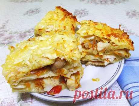 Курица в лаваше - рецепт с фото пошагово