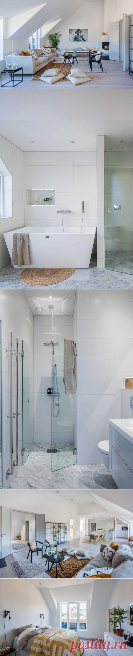 〚 Чистые линии в квартире на чердаке в Стокгольме 〛 ◾ Фото ◾Идеи◾ Дизайн