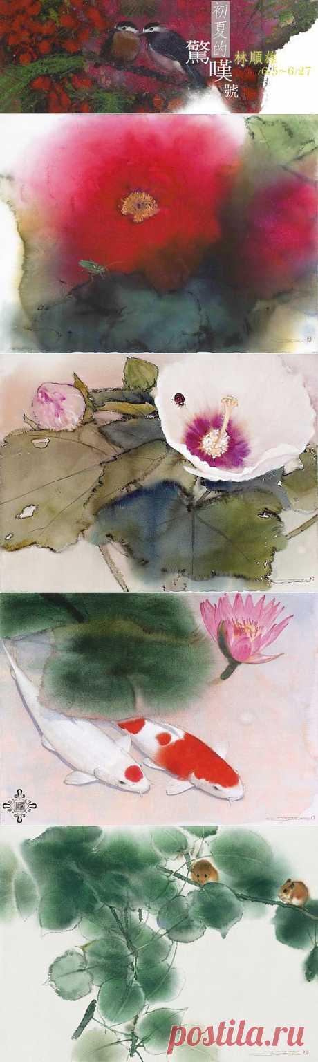 Галерея акварельных работ Lin Shun-Shiung. Избранное..