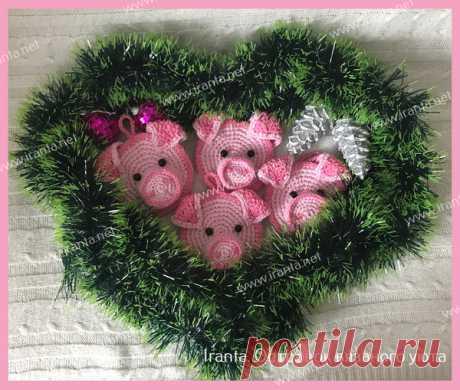 Свинка - вязаный символ 2019 г. Мастер-класс