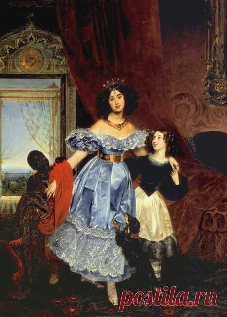 """༺🌸༻Карл Брюллов и Юлия Самойлова.  Больше чем любовь...    В 1875 году, в обстановке бедности, близкой к нищете, в Париже умирала бездетная и капризная старуха, жившая только воспоминаниями о том, что было и что умрет вместе с нею. Ни миланским, ни петербургским родичам, казалось, не было дела до одинокой женщины, когда-то промелькнувшей на русском небосклоне """"как беззаконная комета в кругу расчисленных светил"""". Это была графиня Ю.П.Самойлова; ее захоронили на одном из парижс..."""