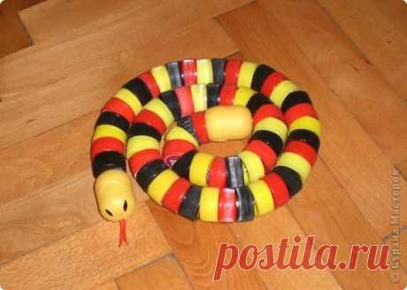 змея из пластиковых крышек своими руками фото: 20 тыс изображений найдено в Яндекс.Картинках