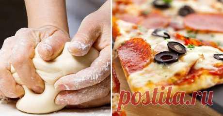Быстрое бездрожжевое тесто для пиццы без яиц и молока Когда вот-вот придут гости, а на кухне хоть шаром покати, выручитрецепт приготовления...