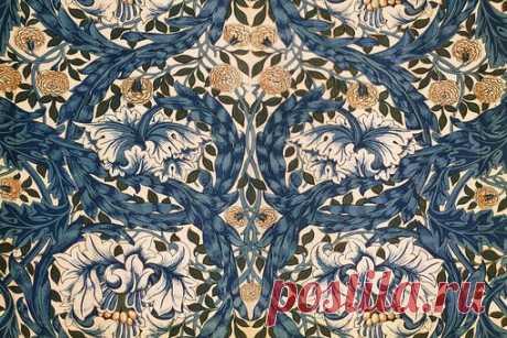 Обои и текстиль конца XIX века по дизайну Уильяма Морриса (1834-1896).