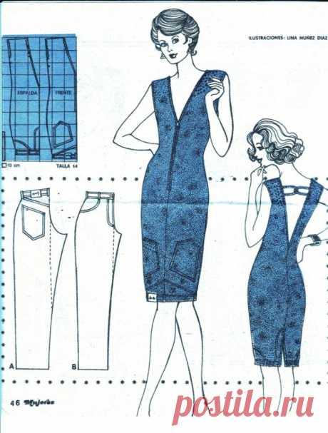 Платье из джинсов (Diy) / Переделка джинсов /