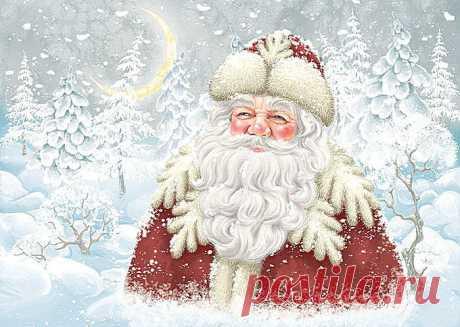 Схема вышивки «Дедушка Мороз» - Вышивка крестом