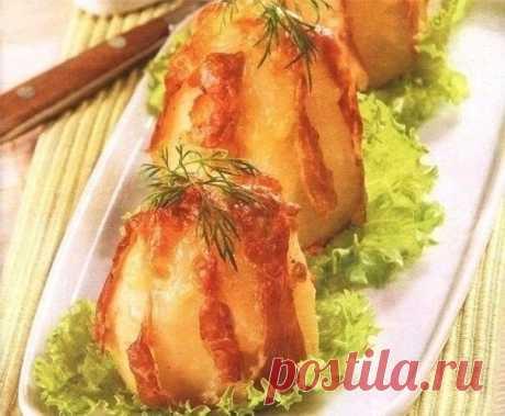 Как приготовить картофель запеченный в фольге с сыром и ветчиной - рецепт, ингридиенты и фотографии