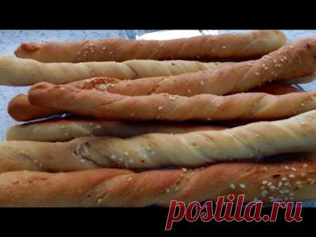 Хлебные палочки (Гриссини). Гриссини с кунжутом.