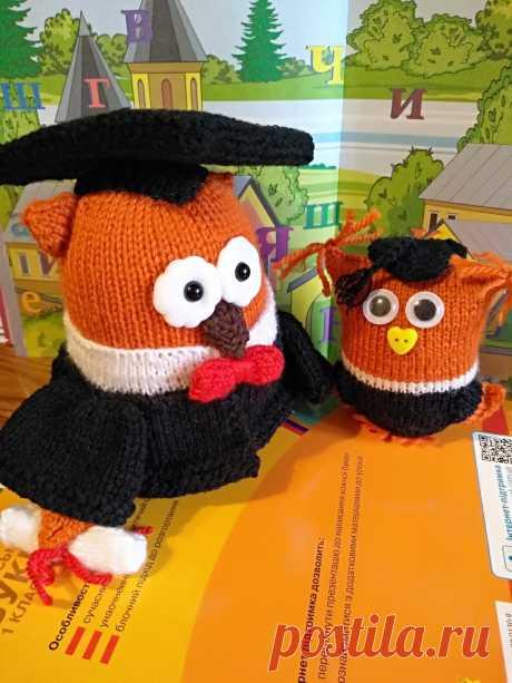 Сова.Вязаные игрушки - подарок учителю, студенту, школьнику.
