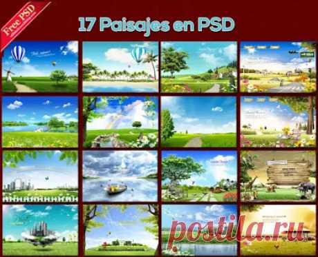 Fondos de paisajes para fotos en PSD - Plantillas y recursos gráficos para pequeñas empresas y personas comunes   Recursos Photoshop