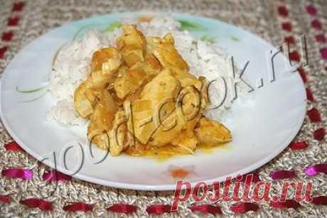 курица тушеная в апельсиновом соке, рецепт приготовления
