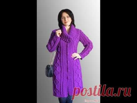 Модный Вязаный Кардиган Спицами - 2019 / Fashionable Knitted Cardigan Knitting