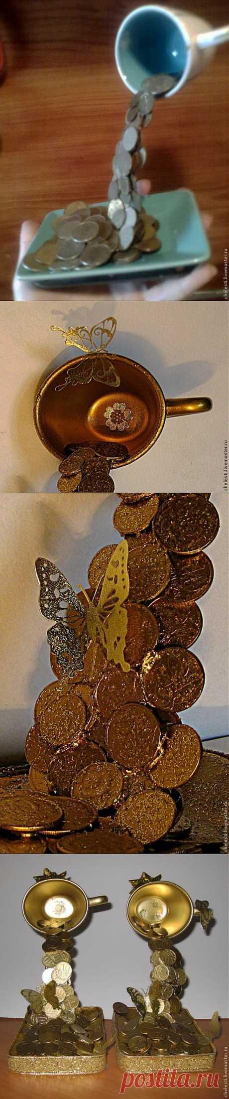 """Мастер-класс: сувенир """"Чтобы деньги лились рекой"""" - Ярмарка Мастеров - ручная работа, handmade"""