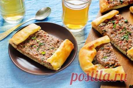 Очень просто! Чантык — турецкая лепешка с мясной начинкой   Вкусные рецепты