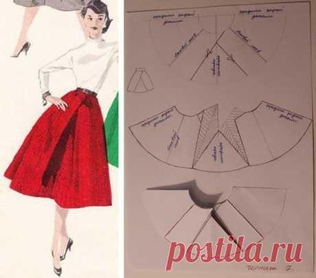 Моделирование юбки с интересной складкой #шитье #выкройки #моделирование #юбкасинтереснойскладкой