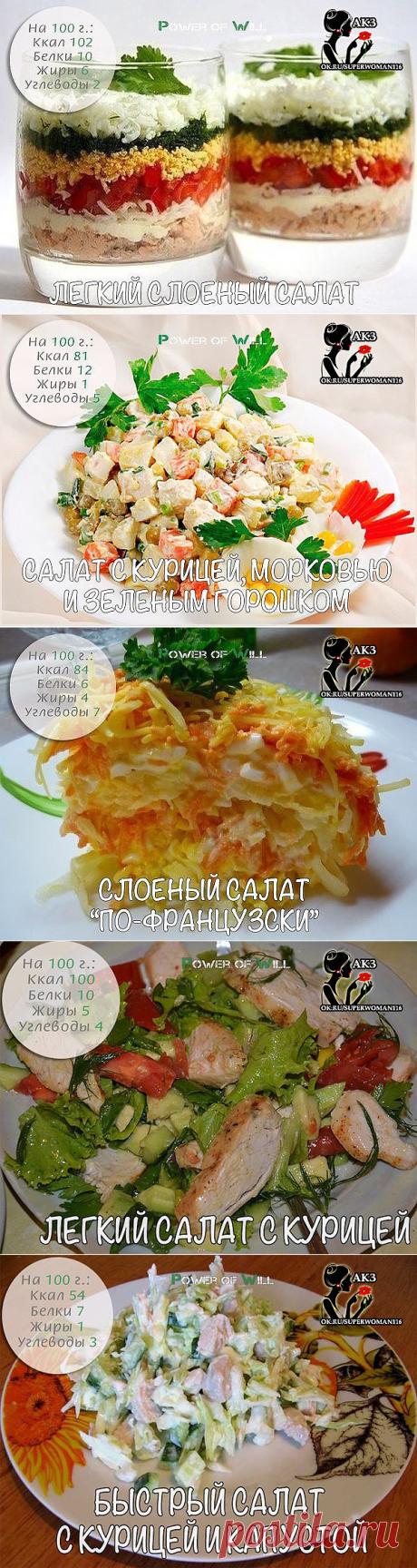 5 фитнес-салатов для плоского живота 👙