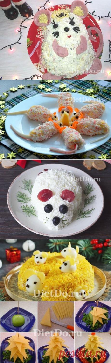Салат в виде крысы (мыши) на Новый год 2020 — ТОП-10 рецептов с фото