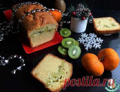 Творожный кекс с киви – кулинарный рецепт