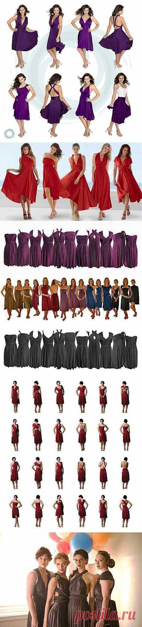 Продолжаем шить секси-платье!!! Еще схемы и выкройки + способы завязывания на фигуре!.