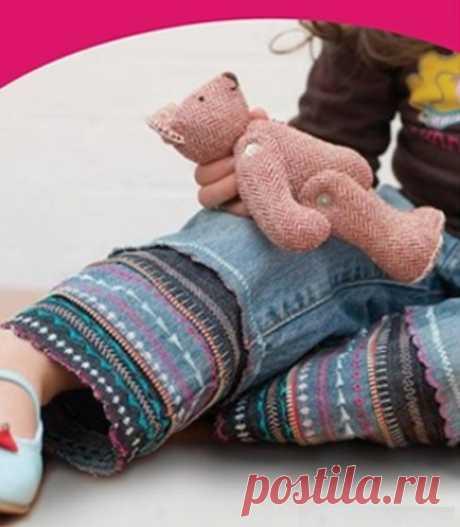 Удлинение детских джинсов своими руками (diy) Модная одежда и дизайн интерьера своими руками