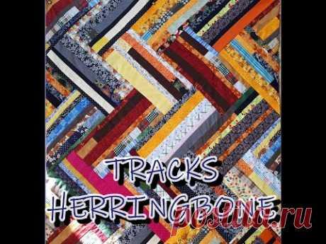 Tracks Herringbone Quilt Block