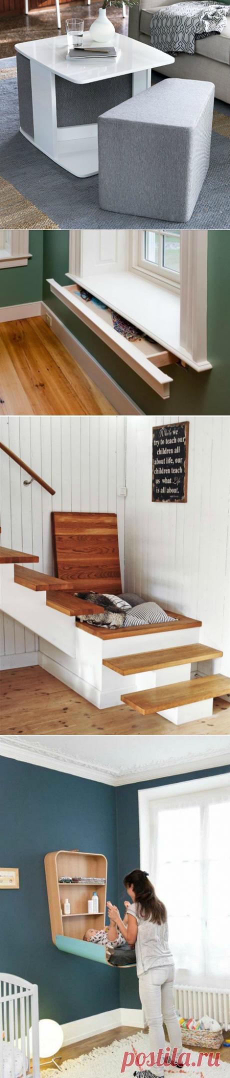 Гениальные решения, которые станут настоящим спасением для владельцев небольших квартир | Мой дом