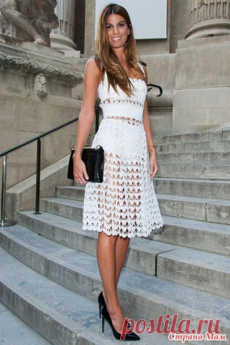 *Платье, костюм или туника от Dolce & Gabbana - Все в ажуре... (вязание крючком) - Страна Мам