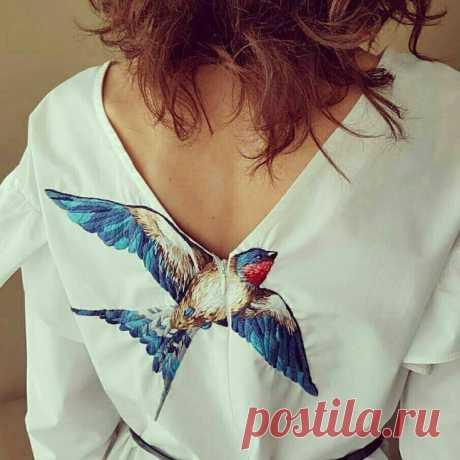 Синяя птица Модная одежда и дизайн интерьера своими руками