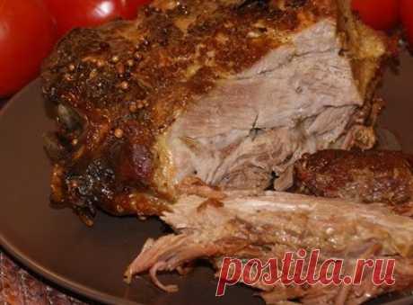 Мясо в универсальном маринаде, запеченное целым куском | Банк кулинарных рецептов