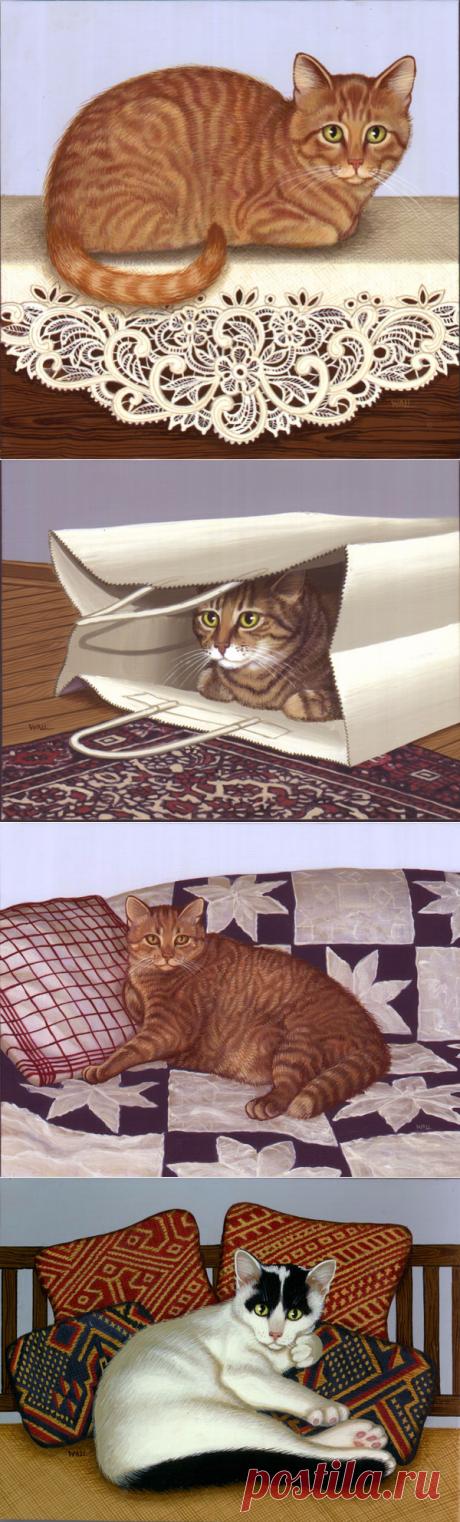 Sue Wall и ее нарисованные котики