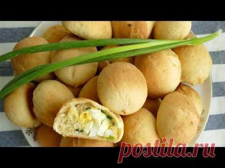 Мини пирожки с яйцом и зелёным луком в духовке! Без лепки! Справится даже новичок!